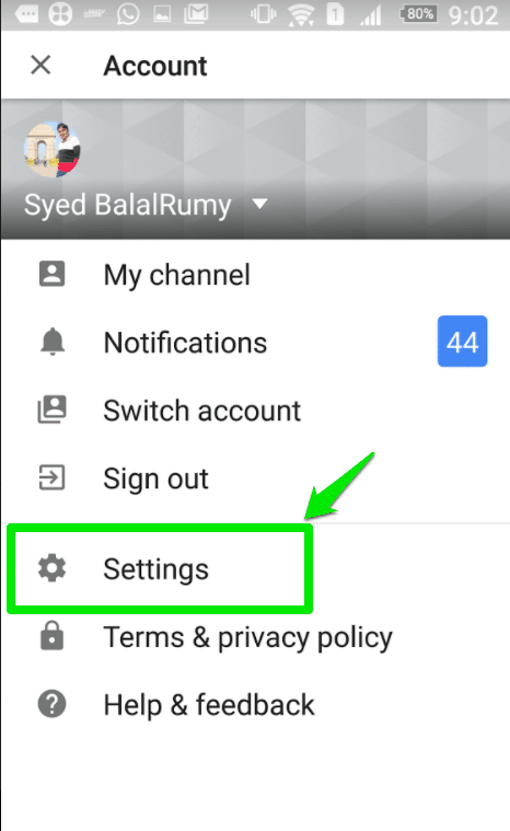How to Delete YouTube history in Android