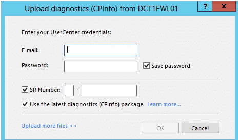How to upload cpinfo file to checkpoint server