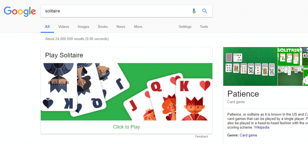 Hidden Games you must Play on Google