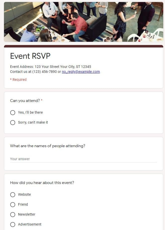 11 of The Best Google Forms Templates That You Can't Miss