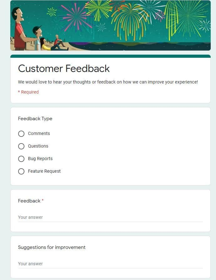 Best Google Forms Templates