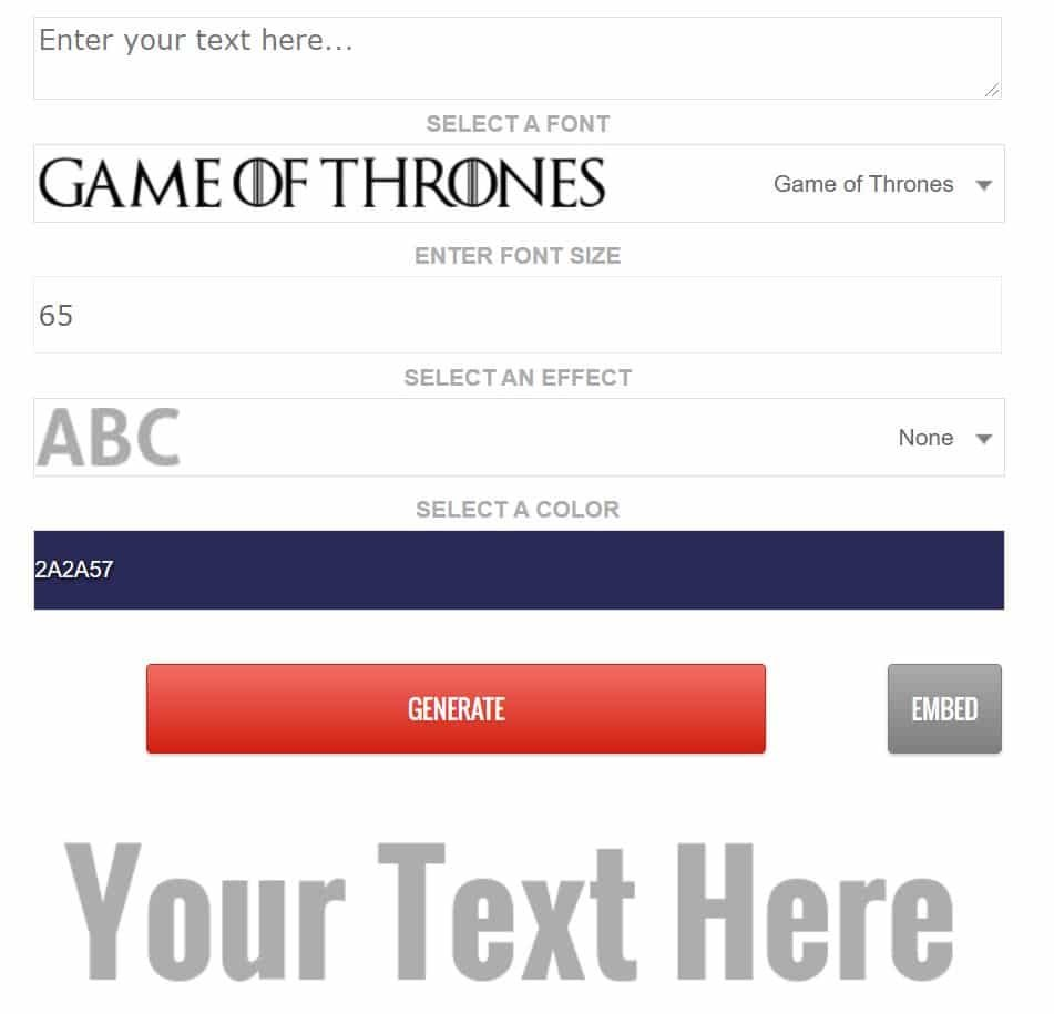 Best Game of Thrones Fonts 2