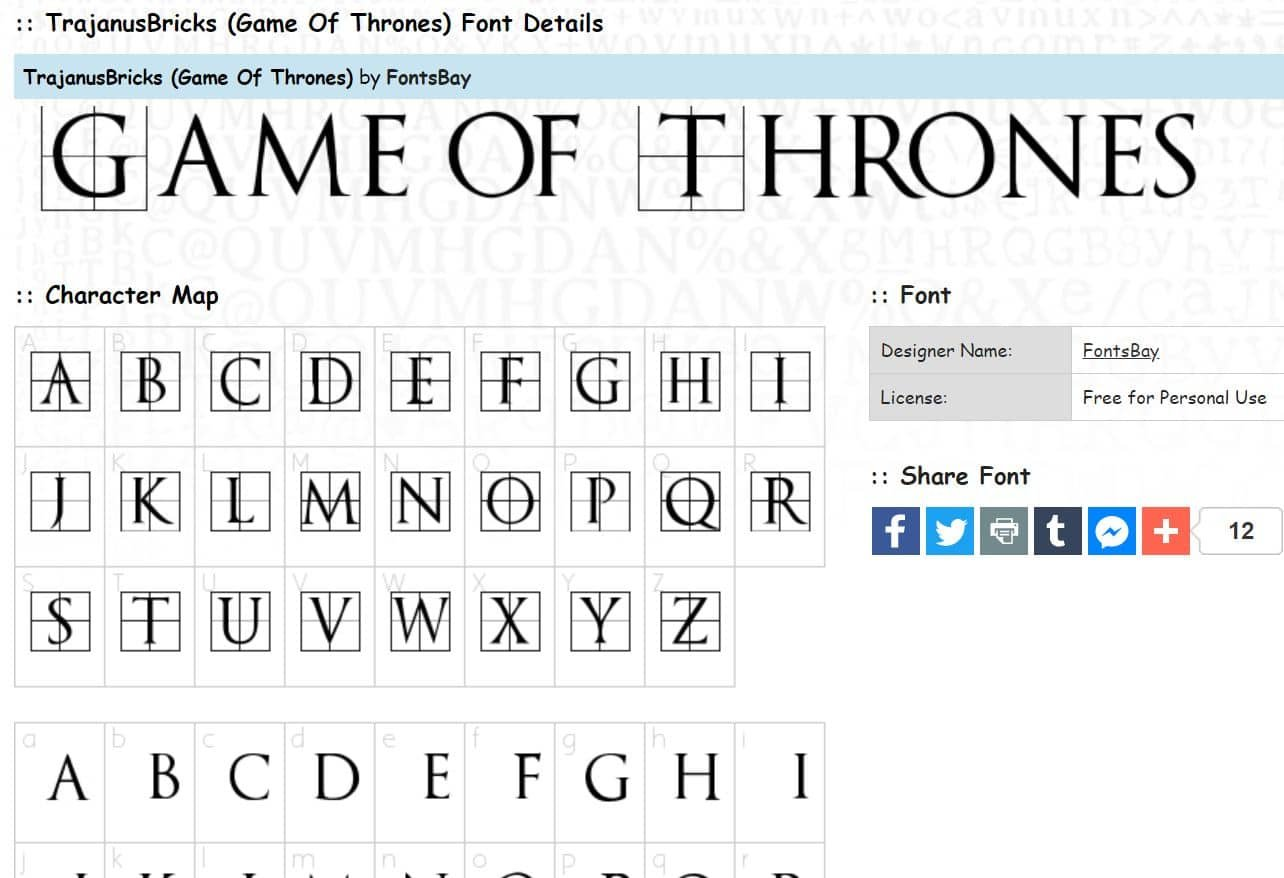 13 Of The Best Game of Thrones Fonts To Use